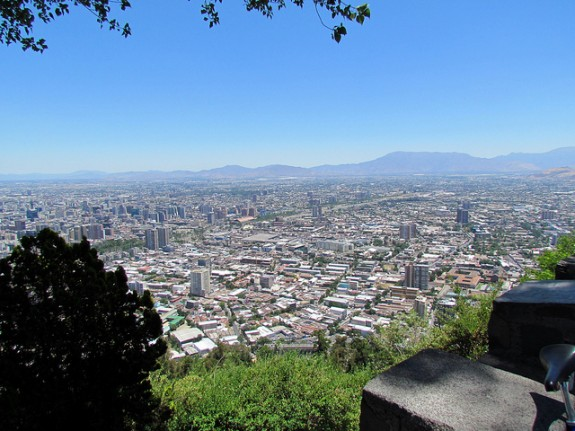 A view from cerro san cristobal