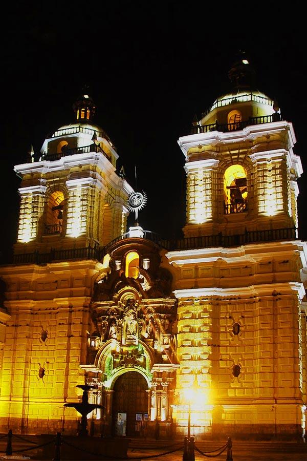 San Francisco Monastery Lima Colonial Church Night
