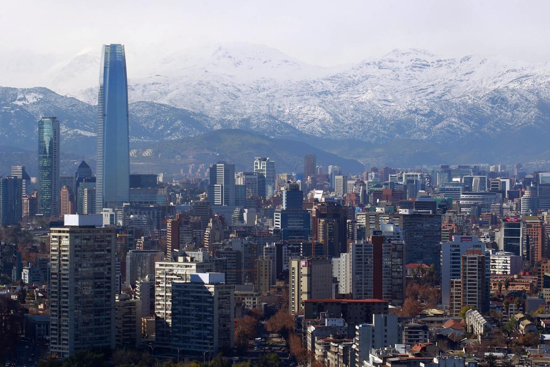 Vista panorámica de Santiago despejado