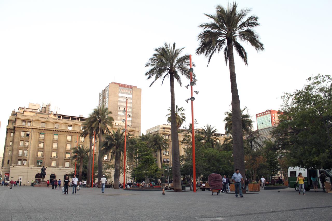 santiago plaza de armas chile