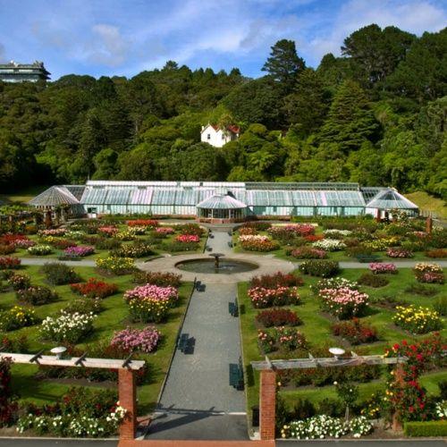 Cropped Botanic Garden Lady Norwood Rose Garden Wellington