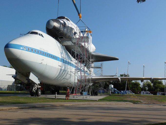 Houston space center shuttle