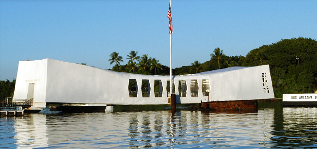 Uss Arizona Memorial side veiw