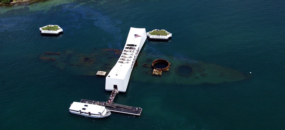 Uss Arizona Memorial veiw