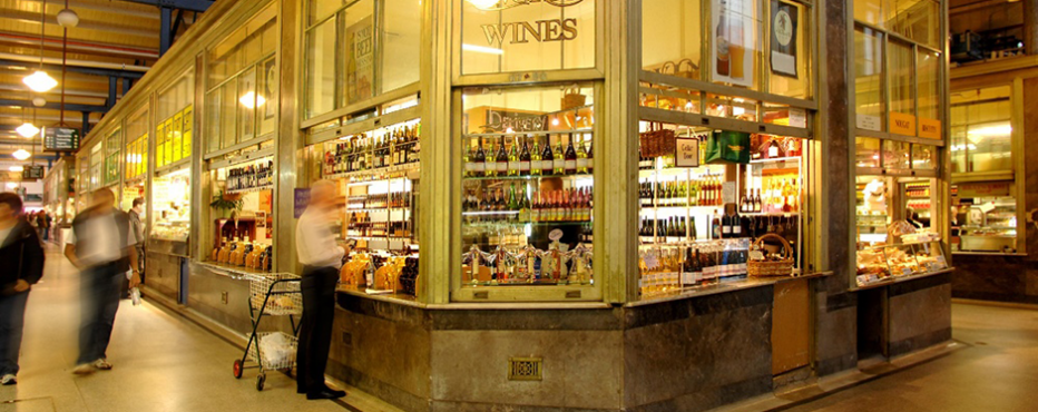 queen victoria market wine shop