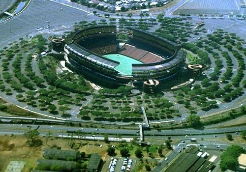 aloha stadium beautiful aerialveiw