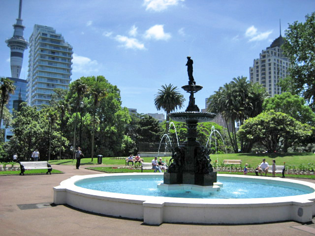 fountain in albert park auckland