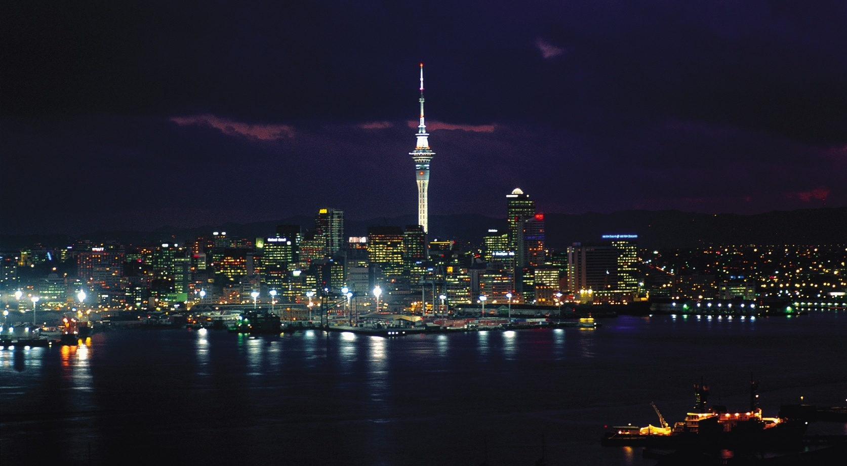 skycity auckland at night