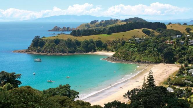 waiheke island beach overview
