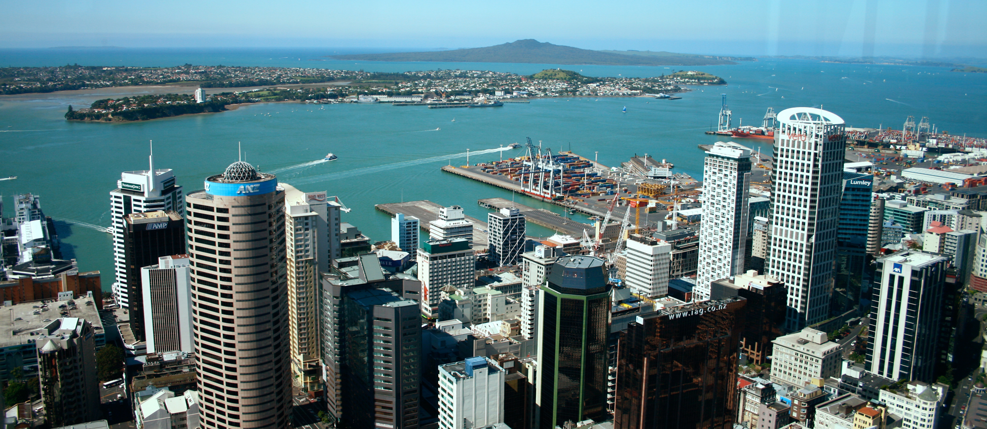 waitemata harbour from sky tower