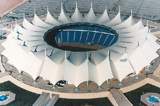 exterior of king fahd international stadium