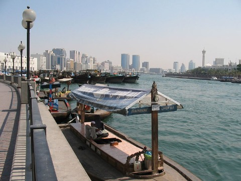 beatiful view of dubai creek