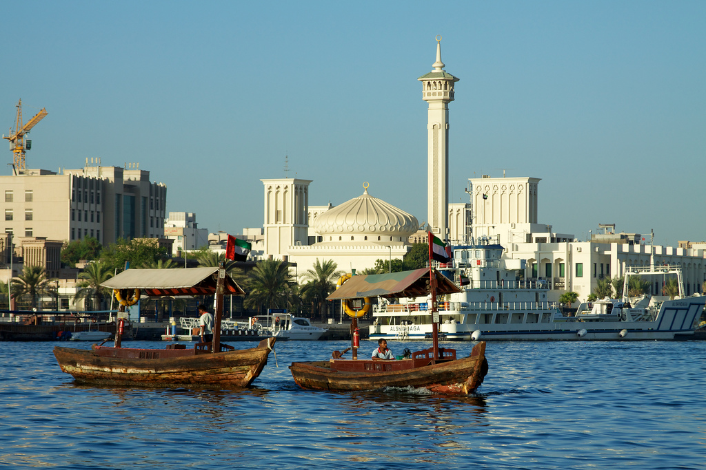 beautiful dubai creek in UAE