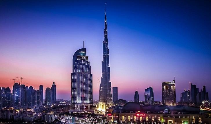 burj khalifa and address hotel in dubai