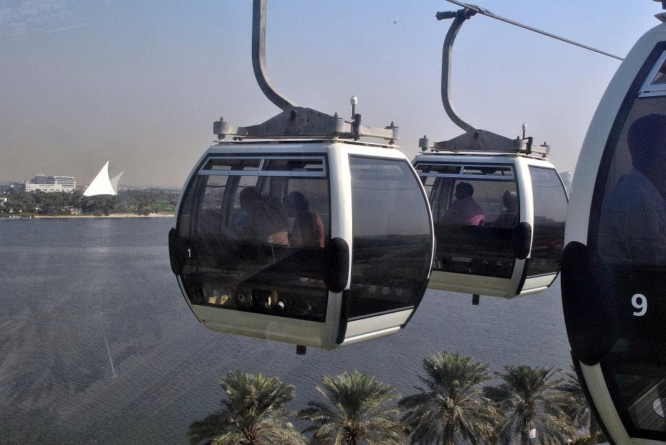 cable cars in dubai creek park