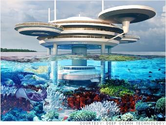 exterior of Dubai Underwater Hotel