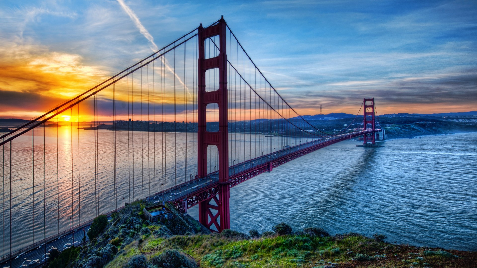fascinating view of golden gate bridge