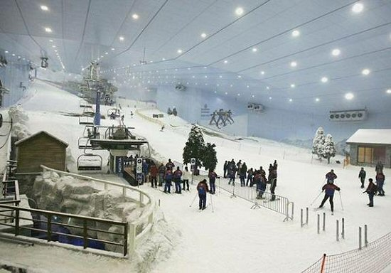interior of ski resort in the emirates malls