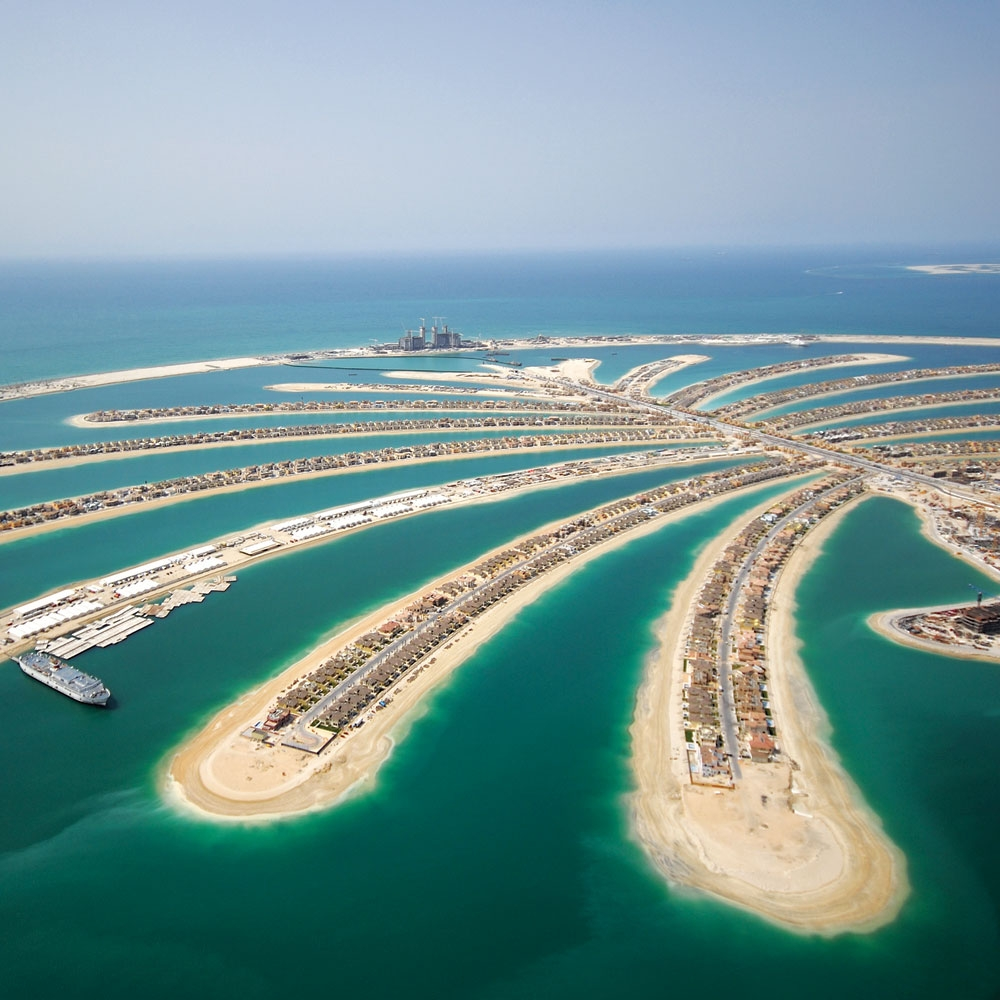 palm jumeirah during construction