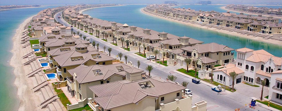 palm jumeirah's houses