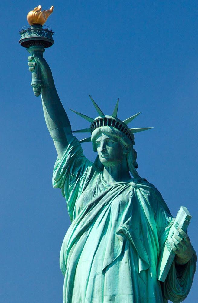 statue of liberty- close up