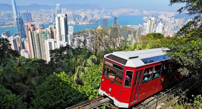 tram at hk the peak
