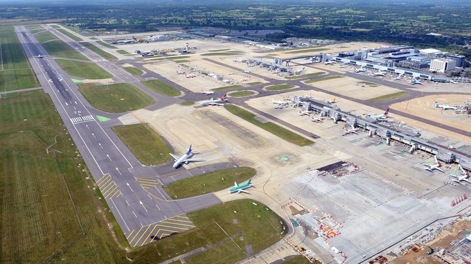 gatwick airportfrom the top