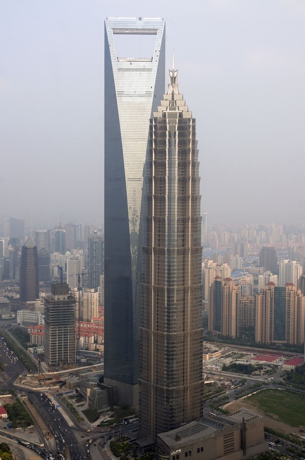 jin mao tower near world financial center