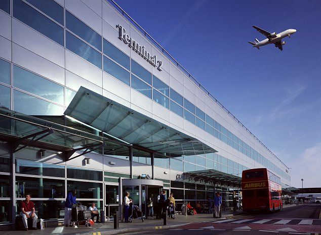 Terminal 2 at Heathrow Airport