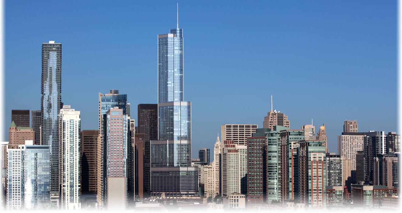 Trump Tower into skyline