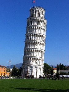 tower of pisa leaning