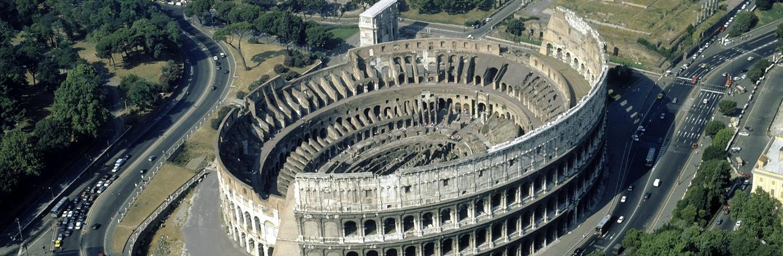 Colosseum areil view