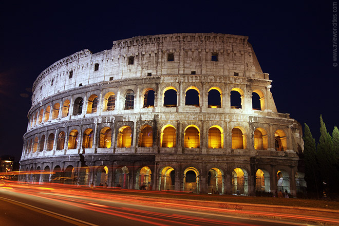 Colosseum night view