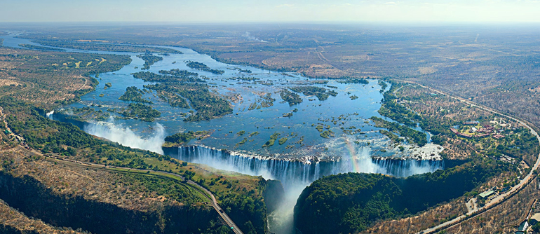 Victoria Falls bird's eye view