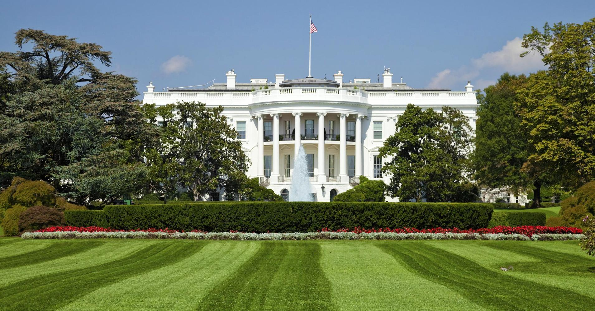 beautiful white house