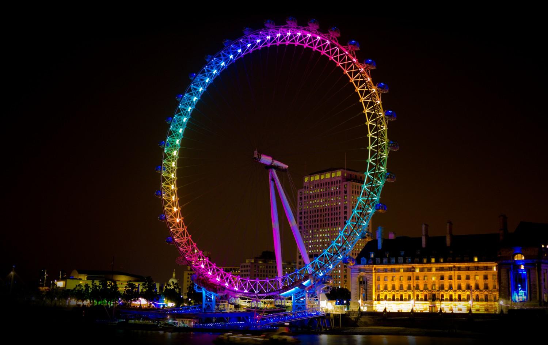 colourful london eye