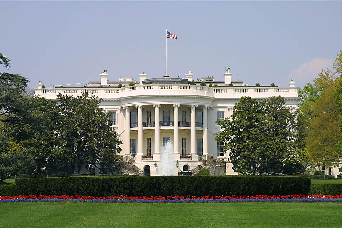 exterior of white house