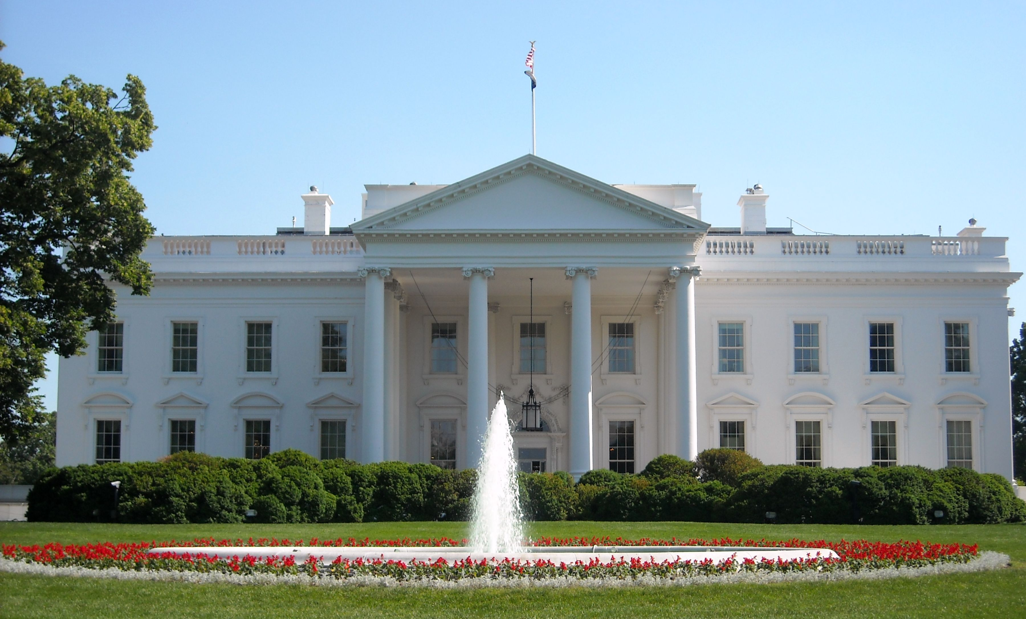 white house, located in wasington DC
