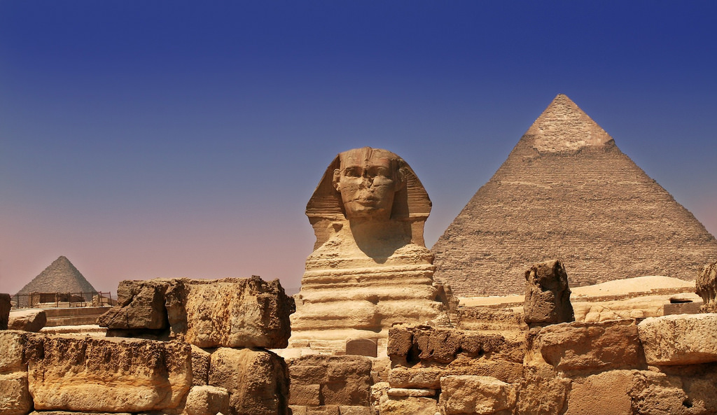 The Sphinx And Pyramid
