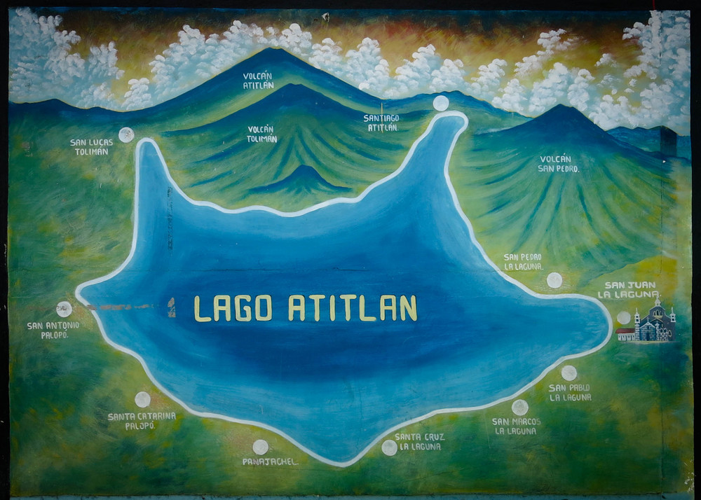 Lake Atitlan, Guatemala, map