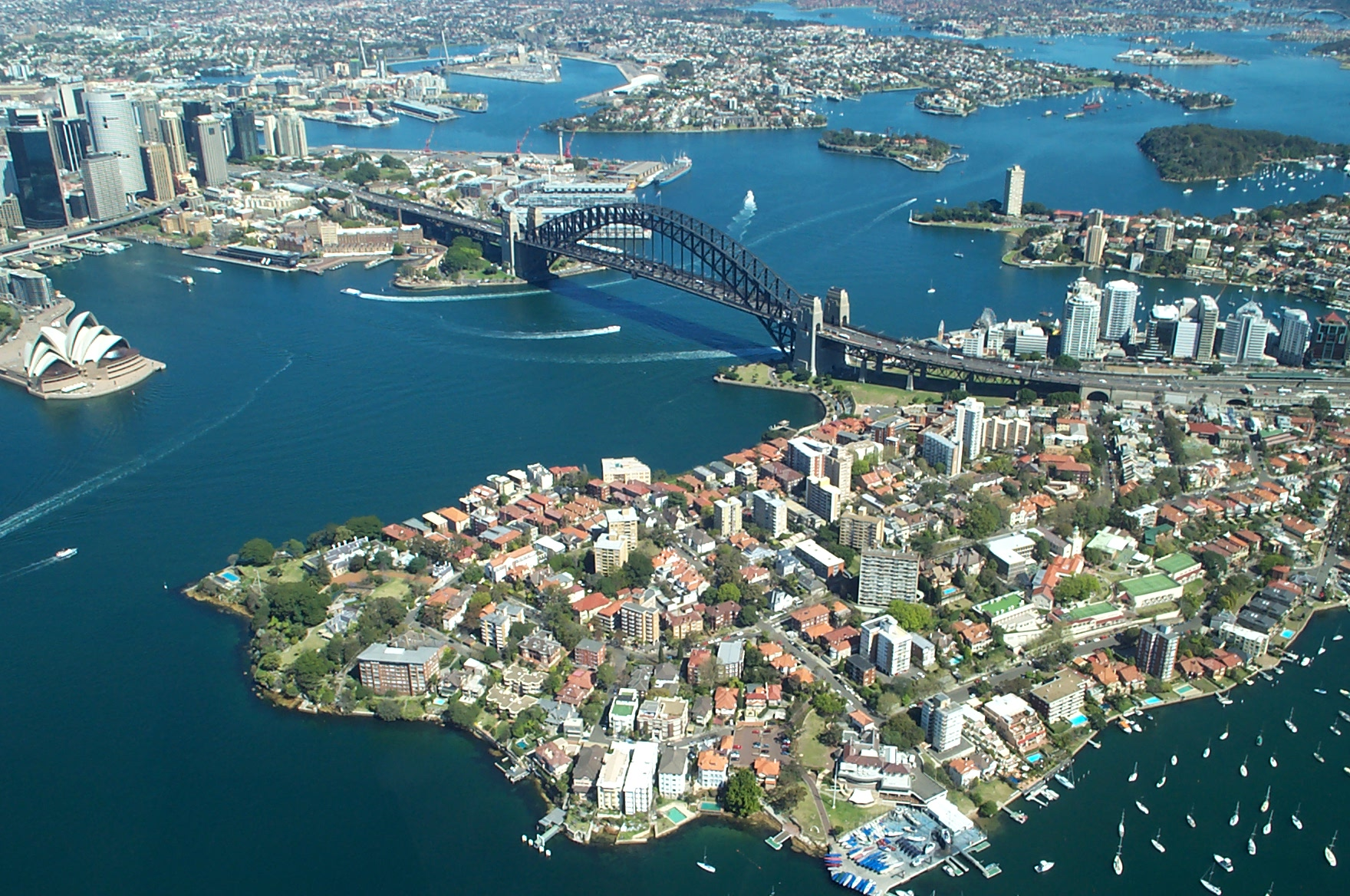 Sydney Harbour Bridge aerial view