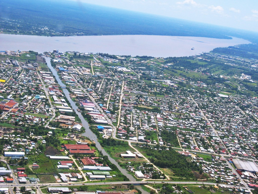 suriname aerial view
