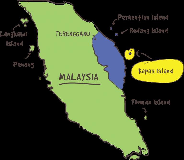 kapas island map