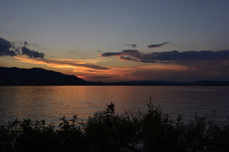 Lake Zurich at sunset