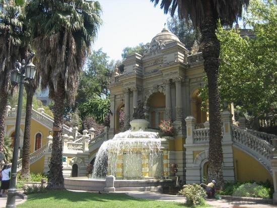 cerro santa lucia fountain santiago chile