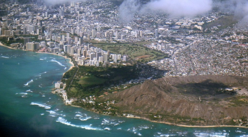 Diamond Head and Waikiki Beach Honolulu Hawaii