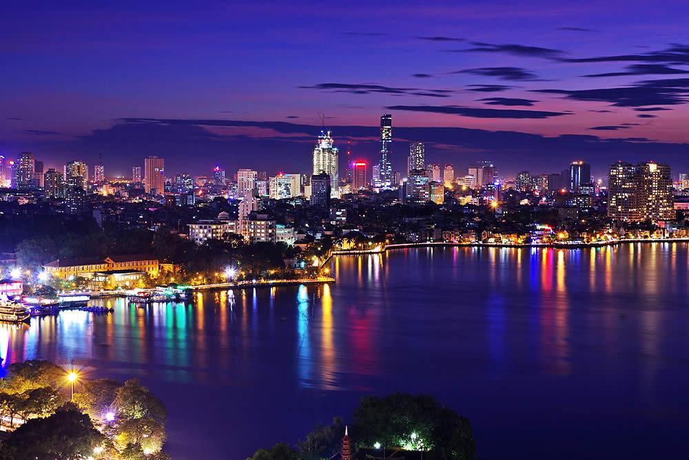Hanoi skyline vietnam