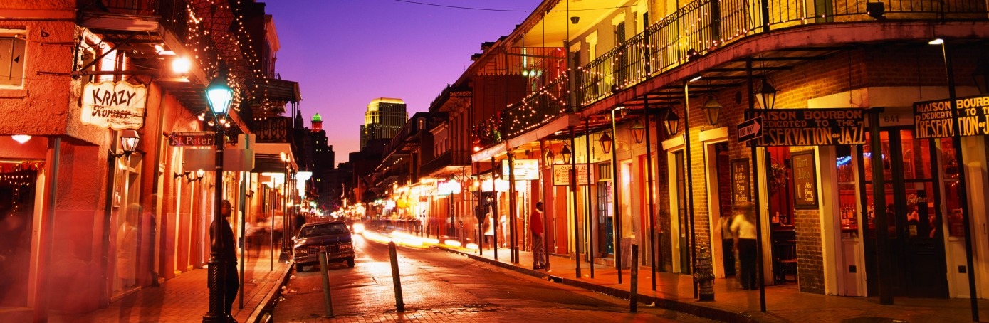 New Orleans Bourbon at Night
