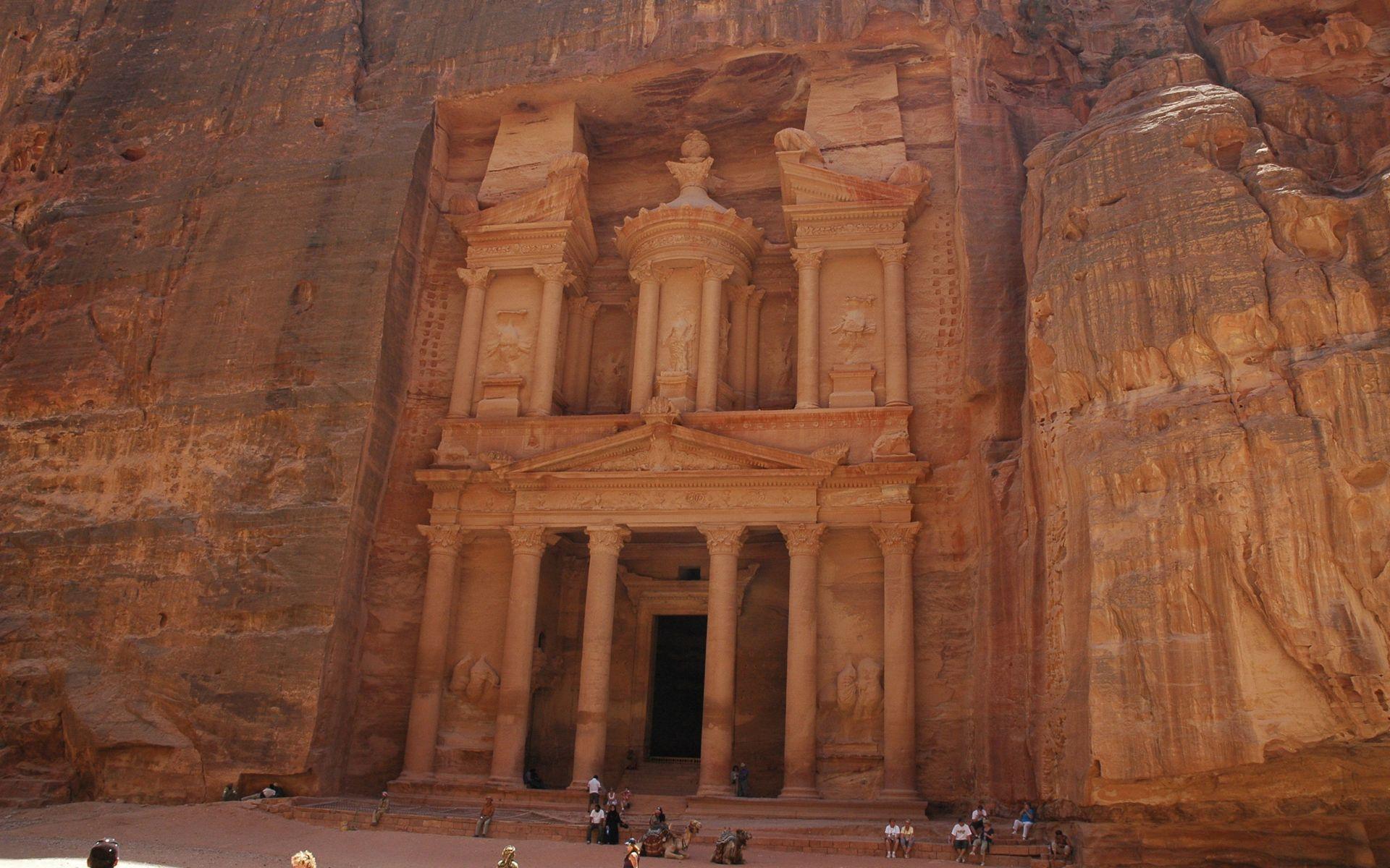 Treasury in Petra Jordan