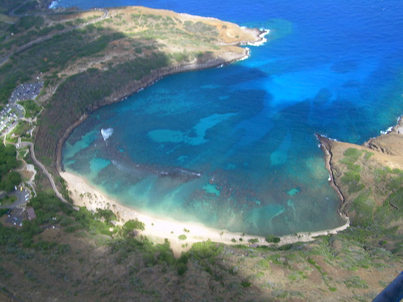 hanauma bay air veiw